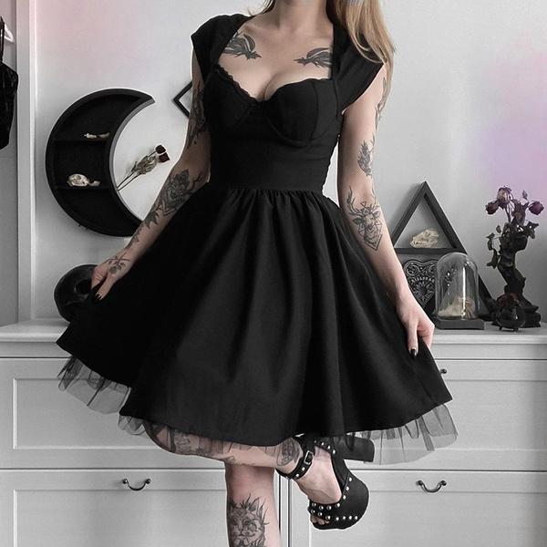 halloweendre, GOTHIC DRESS, Necks, Sleeve