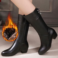 Moda, Leather Boots, Invierno, Spring