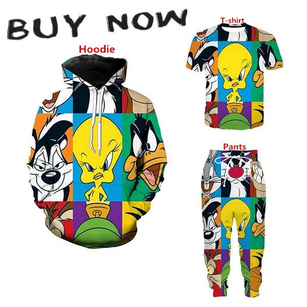 3D hoodies, sport pants, pants, Anime
