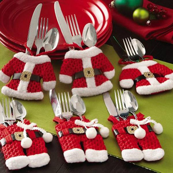 Christmas, partty, Handmade, silverwareholder