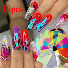 nail stickers, Holographic, art, Beauty