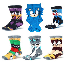 cartoonsock, Cotton Socks, Бавовна, sonic