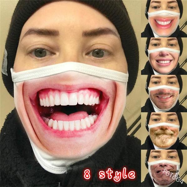 Funny, mouthmask, unisexmask, protectivemask