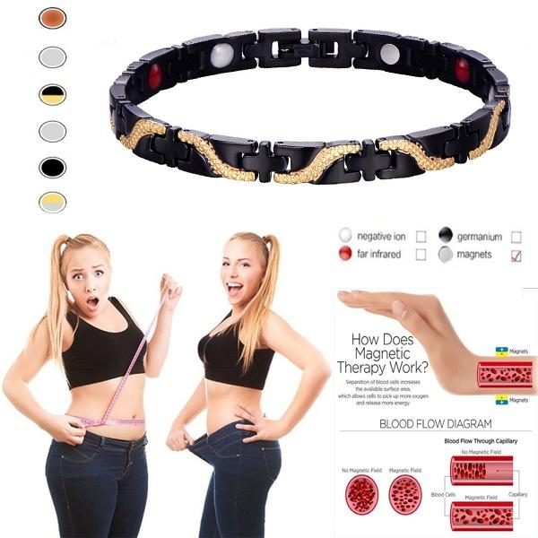 Fashion, magnetictherapyhealingbracelet, loseweight, Luxury
