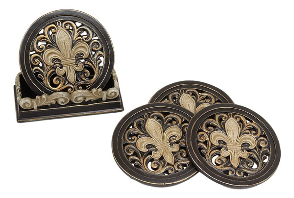 Decor, Coasters, Home & Living, crown