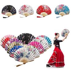 foldingfan, Decor, Flowers, chinesestylehandfan