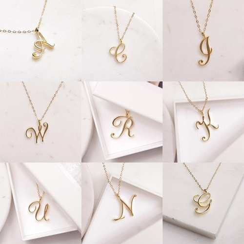 Chain Necklace, alphabetletter, Love, Jewelry