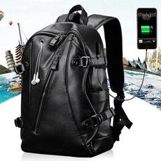 waterproof bag, men backpack, Laptop, leather backpack bags