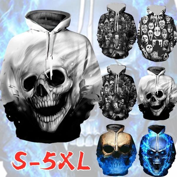 Goth, Fashion, drawstringhoodie, skull