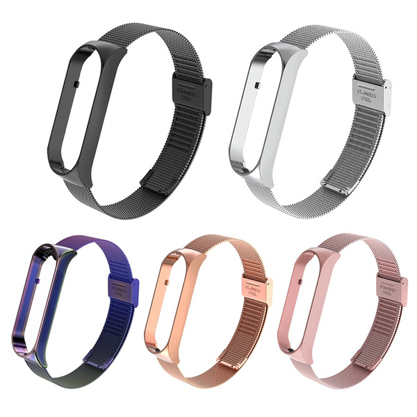 Steel, miband5strap, Stainless Steel, Wristbands