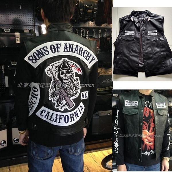 anarchy, Vest, punkvest, motorcyclevest