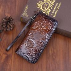 Clutch/ Wallet, women's leather wallet, purses, Pocket