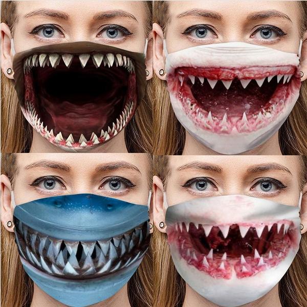 Funny, Fashion, mouthmask, Masks