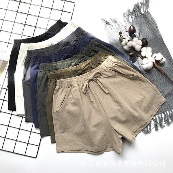 Women Pants, Summer, Cotton, Shorts
