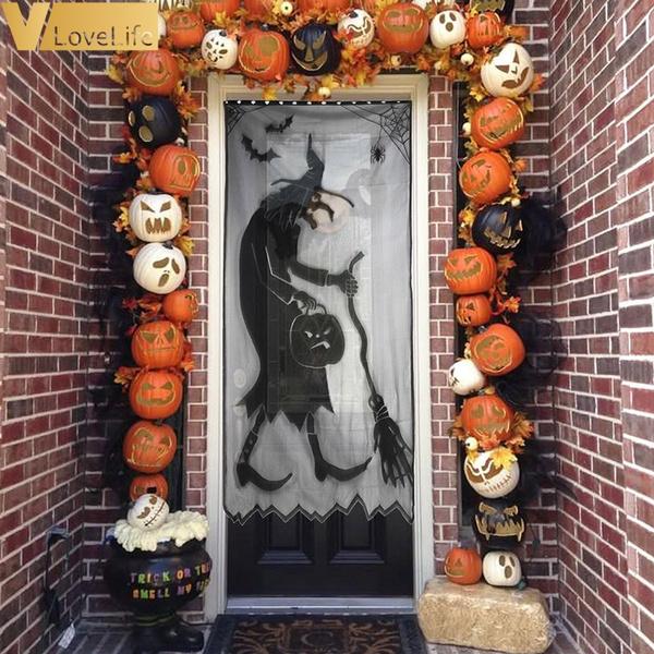 party, Decor, spiderwindowcurtain, halloweenparty