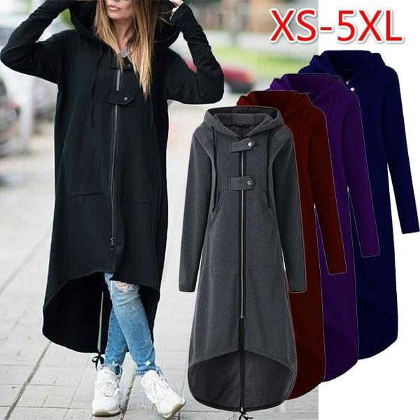 Casual Jackets, Plus Size, Sleeve, Long Coat