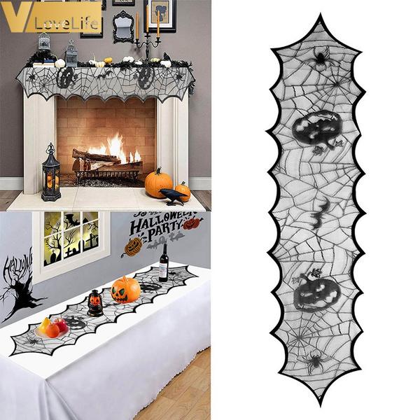 blacklacespiderweb, Cover, tablerunner, Festival