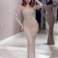 slim dress, party, Cocktail, Sleeve