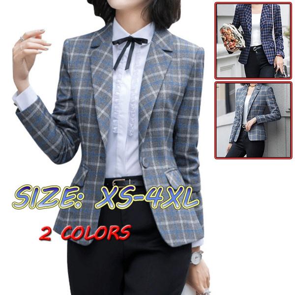 collar slim, plaid, Blazer, Classics