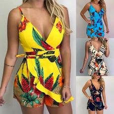 Summer, casualjumpsuit, Shorts, Vintage