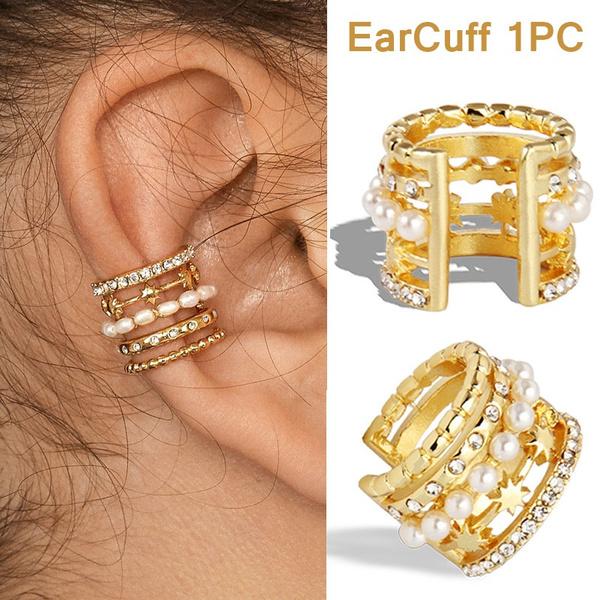 bohemia, earcuffclip, Fashion, punk earring