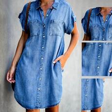 denim dress, slim dress, Fashion, Sleeve
