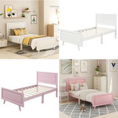 Wooden, twinsizebedframe, Home & Living, Beds