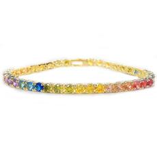 rainbow, Austrian, Jewelry, gold