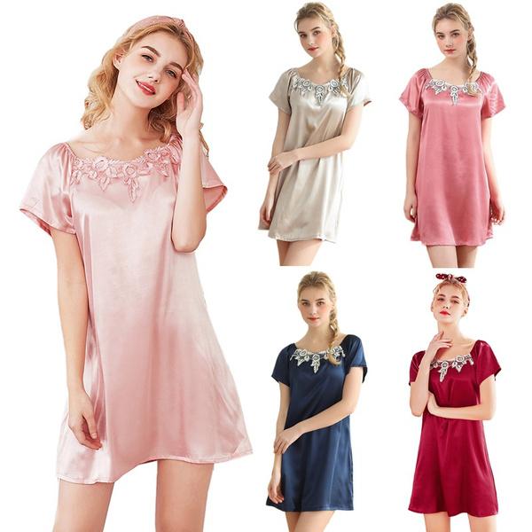 women's pajamas, bathrobewomen, Lace, Summer