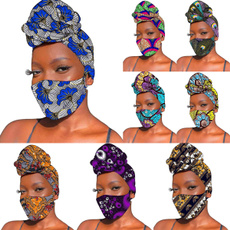 traditionalmask, 2pieceset, traditionalheadband, Cotton