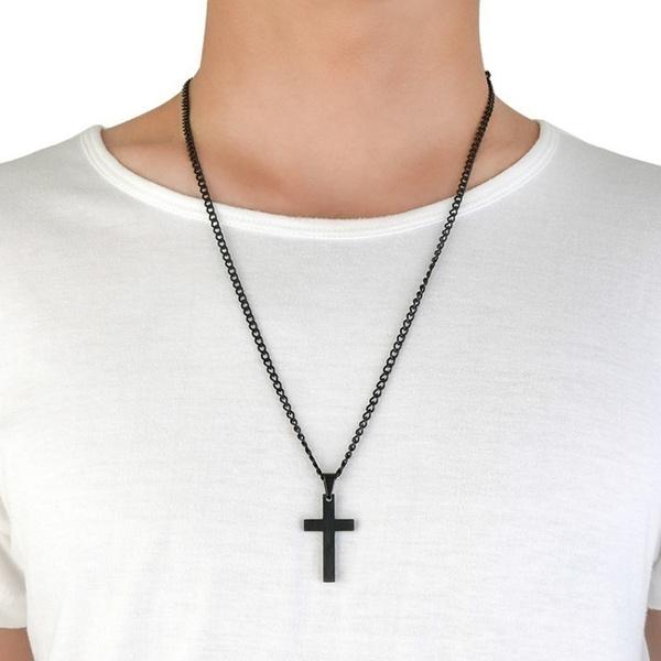 Steel, Jewelry, Cross Pendant, Vintage