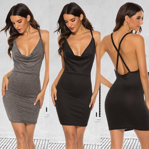 Club Dress, Fashion, vest dress, solidcolordres