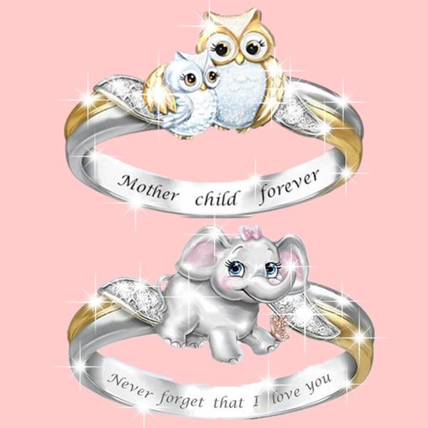 Sterling, Owl, Love, Women Ring