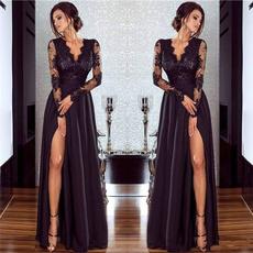 Lace, Sleeve, Long Sleeve, black lace