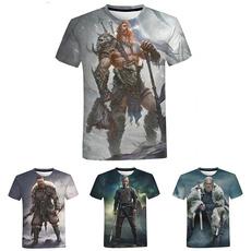 viking, Summer, Polyester Shirt, Graphic T-Shirt