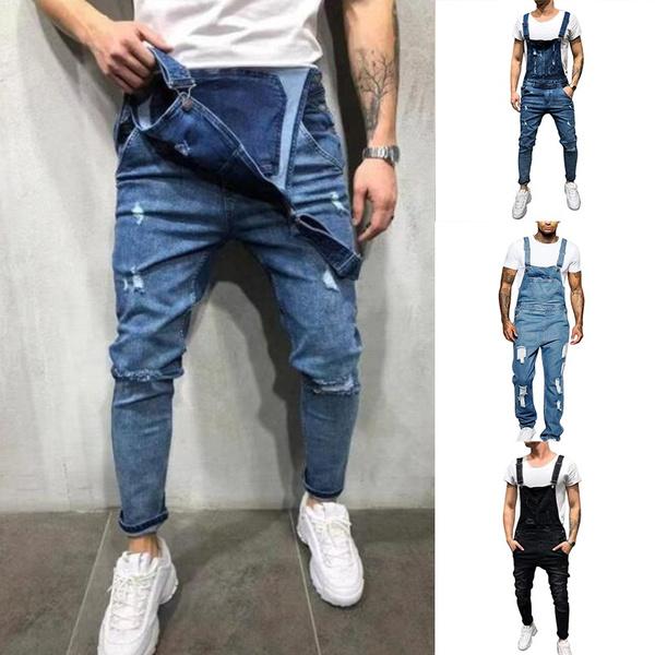 Jeans, suspendertrouser, pants, button