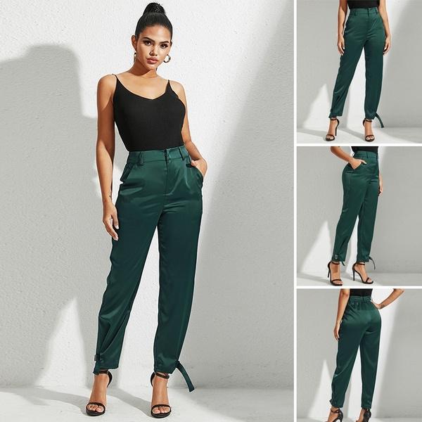 Women Pants, Waist, zipperpant, Elastic