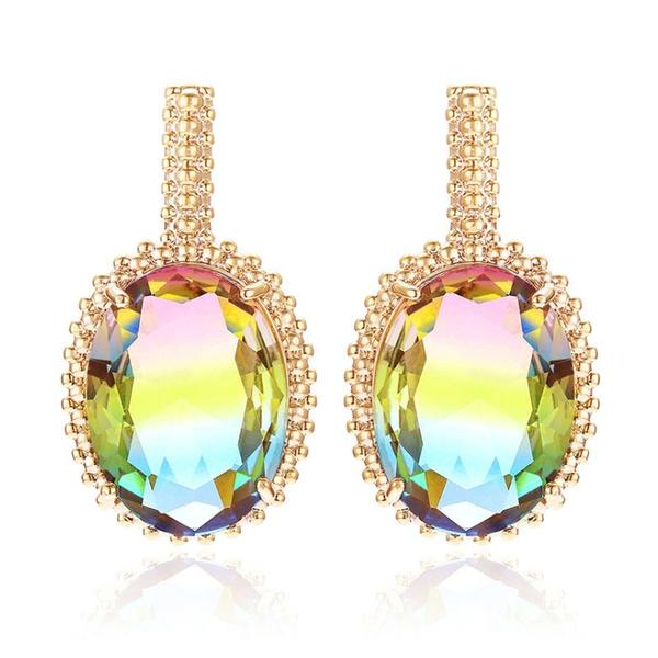 charmearring, Gemstone Earrings, Colorful, Crystal
