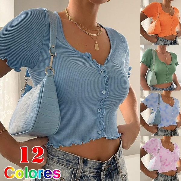 Summer, Fashion, Slim T-shirt, shortsleevetop