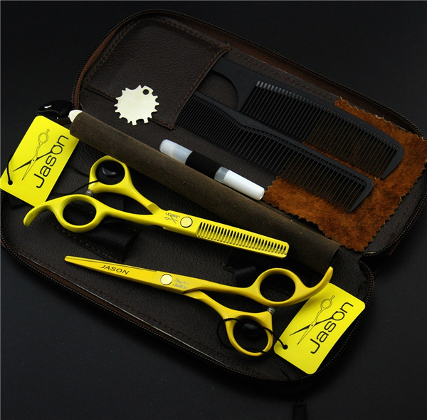 Stainless Steel Scissors, Razor, hairshear, Yellow