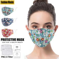 antifoghazemask, Fashion, Floral print, mouthmufflemask