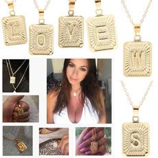 letternecklacegold, Fashion, Jewelry, Necklaces Pendants