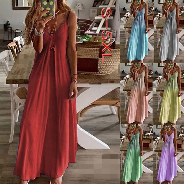 Summer, sleevelessdresse, Dresses, Skirts