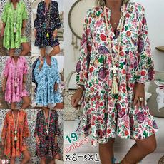 elastic waist, Floral print, Sleeve, Long Sleeve