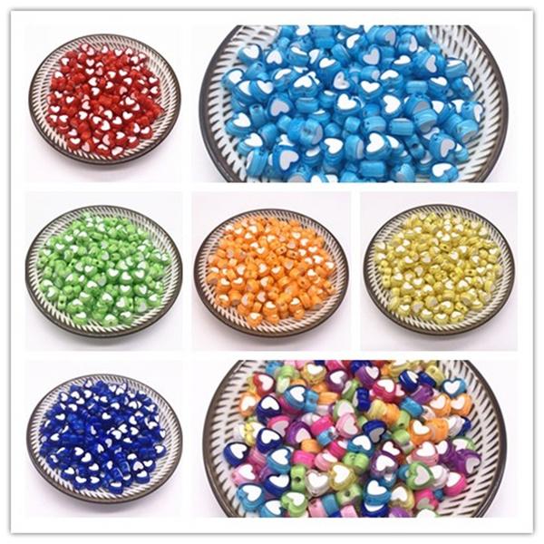 Heart, acrylicbead, Jewelry, Jewelry Making