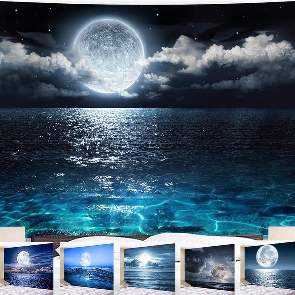 Wall Art, seamoon, Moon, bedroom
