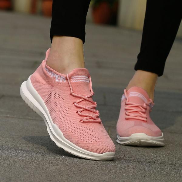 Pink Sneakers Sock Shoes Women Sneakers