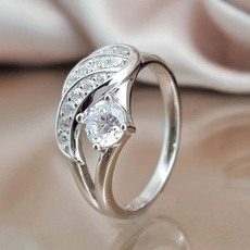 Fashion, Women Ring, 925 silver rings, rhinestonering