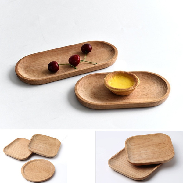 dinnerplatewood, Square, woodtraysandplate, Wooden