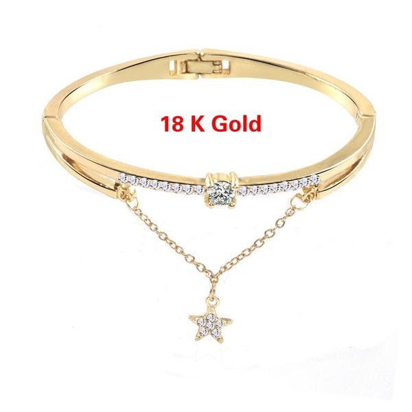 goldplated, circadianstarsbracelet, Star, Jewelry